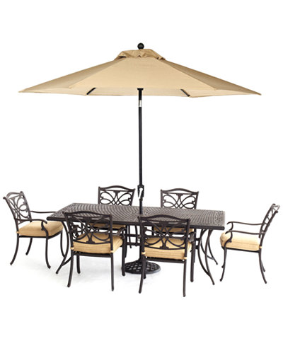CLOSEOUT! Kingsley Outdoor Cast Aluminum 7-Pc. Dining Set (84
