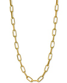 "Paperclip Link Chain 18"" Chain Necklace in 14k Gold"