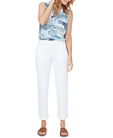 Tummy-Control Straight Ankle Chino Jeans
