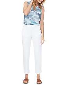 NYDJ Tummy-Control Straight Ankle Chino Jeans