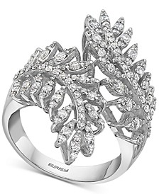 EFFY® Diamond Leaf Bypass Ring (1-1/20 ct. t.w.) in 14k White Gold