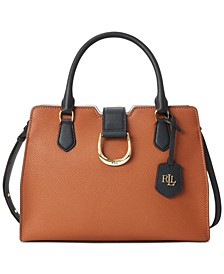 Kenton City Medium Pebbled Leather Satchel