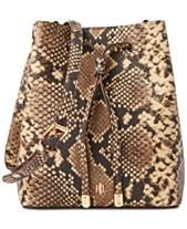 6da81c453f1 Lauren Ralph Lauren Mini Debby Croc-Embossed Leather Bucket Bag