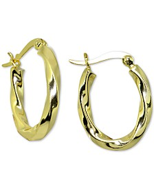 Giani Bernini Twist Hoop Earrings in 18k Gold-Plate Over Sterling Silver, Created for Macy's