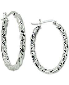 Giani Bernini Twist Hoop Earrings in Sterling Silver, Created for Macy's