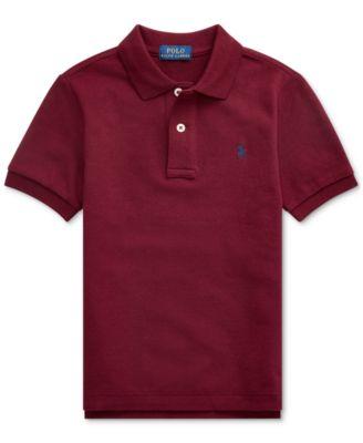 폴로 랄프로렌 남아용 폴로셔츠 Polo Ralph Lauren Toddler Boys Basic Mesh Knit Polo Shirt,Classic Wine