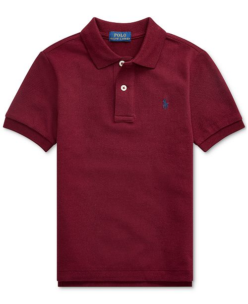 Polo Ralph Lauren Little Boys Basic Mesh Knit Polo Shirt