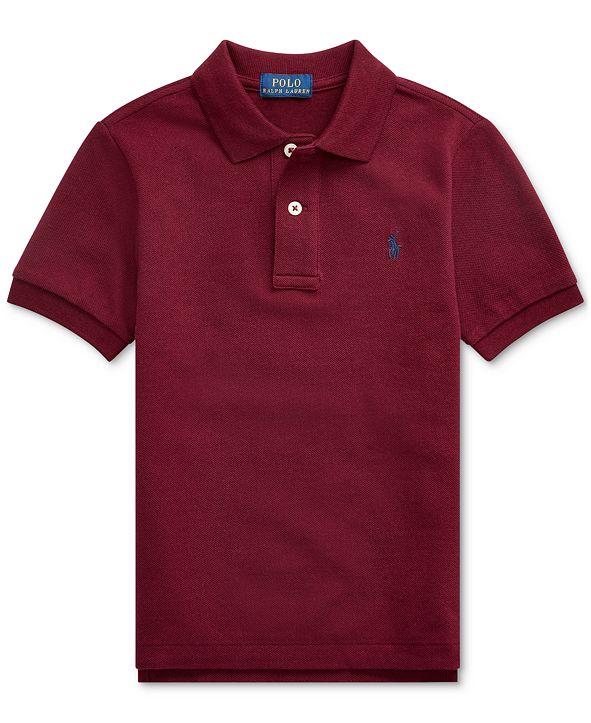 Polo Ralph Lauren Little Boys Basic Mesh Knit Polo Shirt