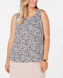 Nine West Plus Size Printed Top