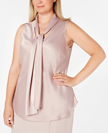 Nine West Plus Size Charmeuse Top