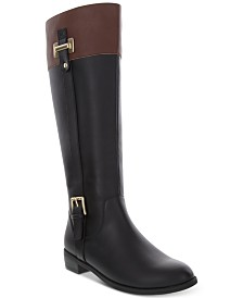 Karen Scott Deliee2 Wide-Calf Riding Boots, Created for Macy's
