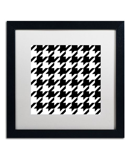 """Trademark Global Color Bakery 'Xmas Houndstooth 6' Matted Framed Art - 16"""" x 16"""""""