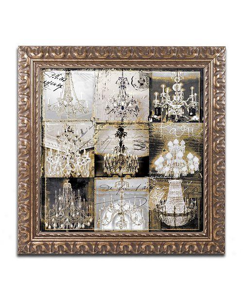 """Trademark Global Color Bakery 'Danse Paree' Ornate Framed Art - 11"""" x 11"""""""