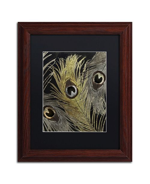 "Trademark Global Color Bakery 'Feather Fashion II' Matted Framed Art - 11"" x 14"""
