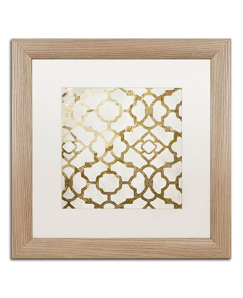 """Trademark Global Color Bakery 'Moroccan Gold II' Matted Framed Art - 16"""" x 16"""""""