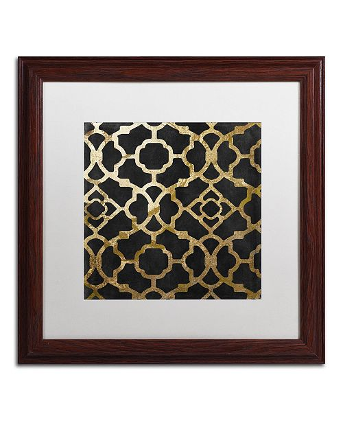 "Trademark Global Color Bakery 'Moroccan Gold IV' Matted Framed Art - 16"" x 16"""