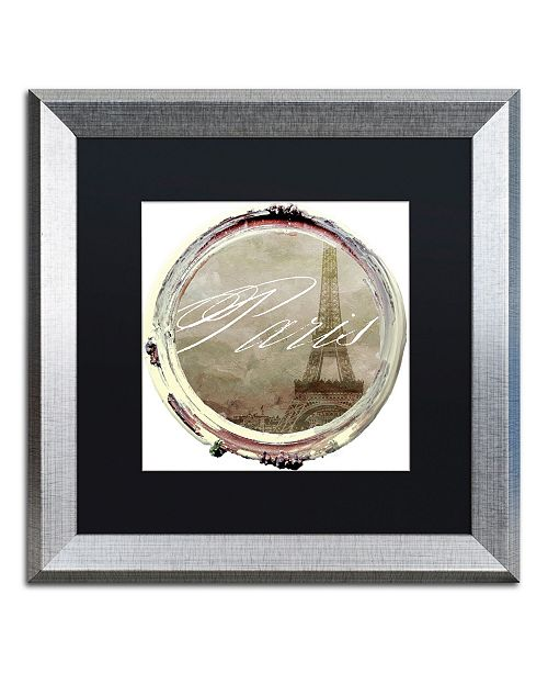 "Trademark Global Color Bakery 'Paris in Frames 3' Matted Framed Art - 16"" x 16"""