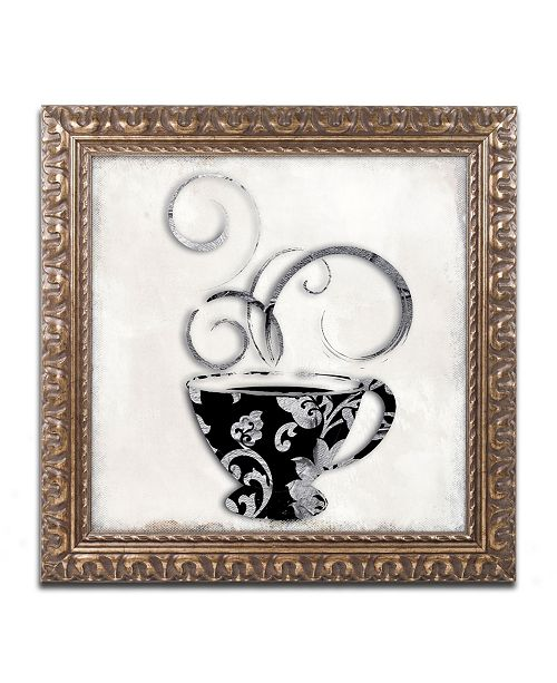 "Trademark Global Color Bakery 'Silver Brewed 2' Ornate Framed Art - 16"" x 16"""
