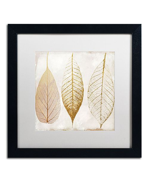 "Trademark Global Color Bakery 'Fallen Gold II' Matted Framed Art - 16"" x 16"""