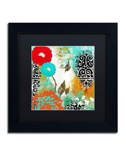 "Trademark Global Color Bakery 'Bali I' Matted Framed Art - 11"" x 11"""