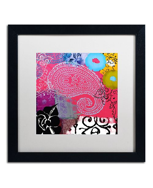 "Trademark Global Color Bakery 'Bali III' Matted Framed Art - 16"" x 16"""