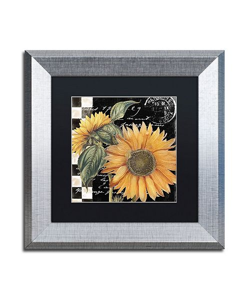 "Trademark Global Color Bakery 'Late Summer II' Matted Framed Art - 11"" x 11"""