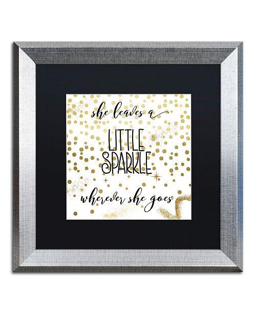 "Trademark Global Color Bakery 'Sparkle' Matted Framed Art - 16"" x 16"""