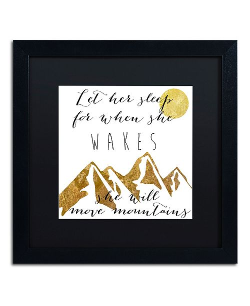 "Trademark Global Color Bakery 'Mountains' Matted Framed Art - 16"" x 16"""