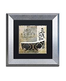 "Color Bakery 'Paris Bath II' Matted Framed Art - 11"" x 11"""