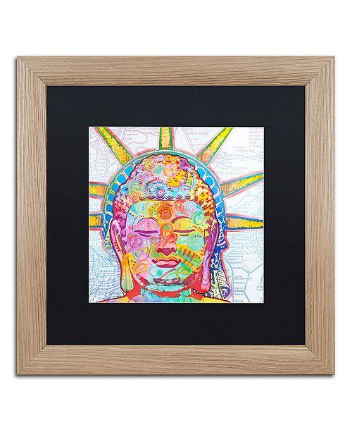 """Trademark Global Dean Russo 'Buddha Liberty' Matted Framed Art - 16"""" x 16"""""""
