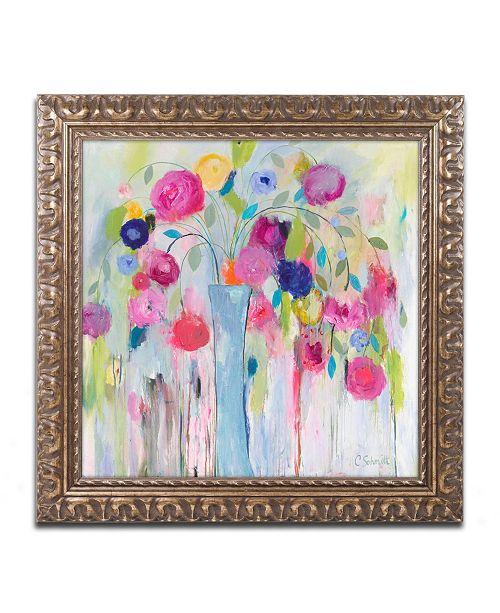 """Trademark Global Carrie Schmitt 'Joie de Vivre' Ornate Framed Art - 11"""" x 11"""""""
