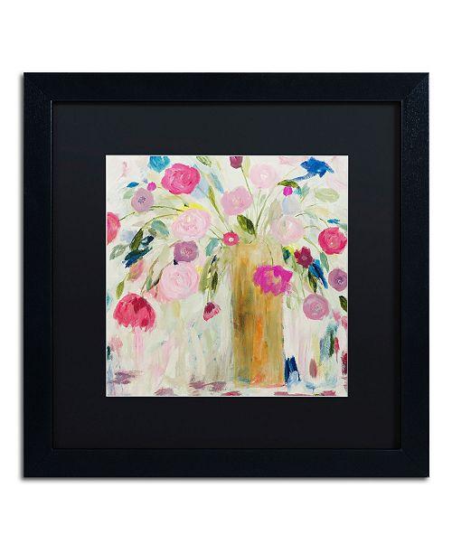 """Trademark Global Carrie Schmitt 'Friendship Blooms' Matted Framed Art - 16"""" x 16"""""""