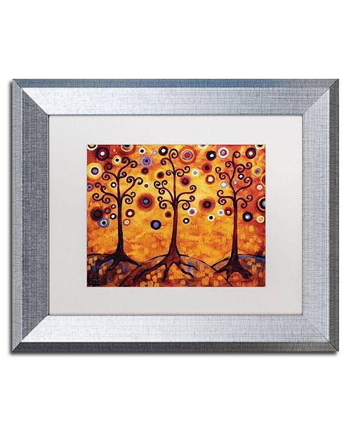 "Trademark Global Natasha Wescoat '018' Matted Framed Art - 11"" x 14"""
