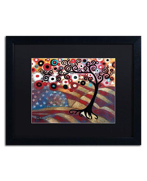"Trademark Global Natasha Wescoat '028' Matted Framed Art - 16"" x 20"""