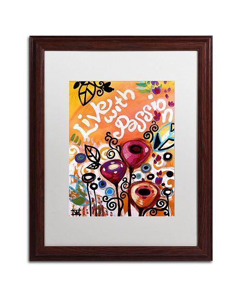 "Trademark Global Natasha Wescoat '103' Matted Framed Art - 16"" x 20"""