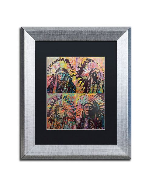"Trademark Global Dean Russo 'Chiefs Quadrant' Matted Framed Art - 11"" x 14"""