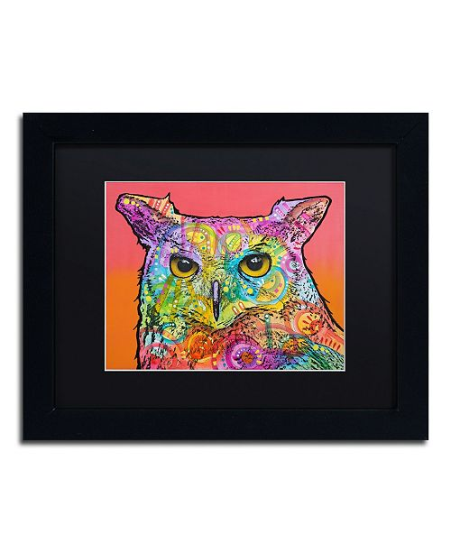 "Trademark Global Dean Russo 'Red Owl' Matted Framed Art - 11"" x 14"""
