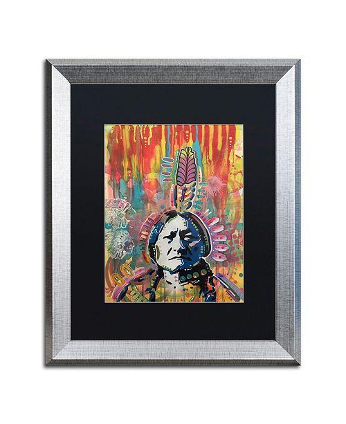 "Trademark Global Dean Russo 'Sitting Bull 1' Matted Framed Art - 16"" x 20"""