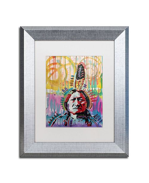 "Trademark Global Dean Russo 'Sitting Bull 2' Matted Framed Art - 11"" x 14"""