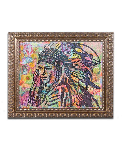 """Trademark Global Dean Russo 'Tiva' Ornate Framed Art - 16"""" x 20"""""""