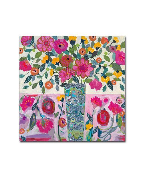 "Trademark Global Carrie Schmitt 'Amazing Vase' Canvas Art - 14"" x 14"""