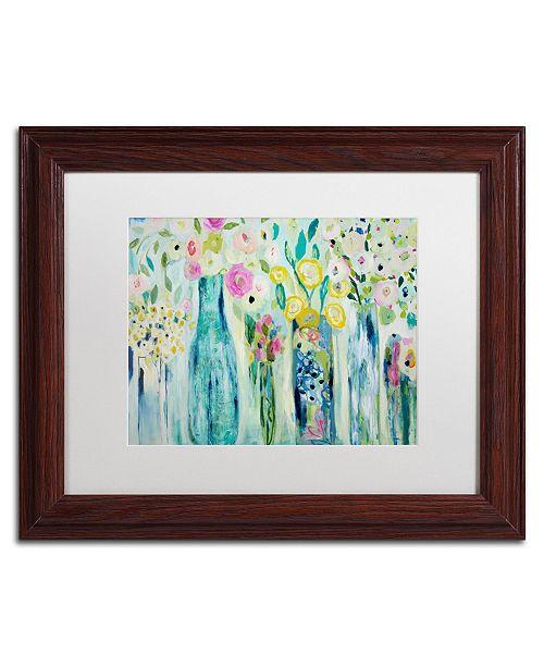 """Trademark Global Carrie Schmitt 'Dhyana' Matted Framed Art - 11"""" x 14"""""""