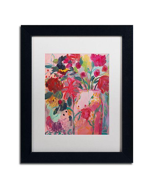 """Trademark Global Carrie Schmitt 'May Flowers' Matted Framed Art - 11"""" x 14"""""""
