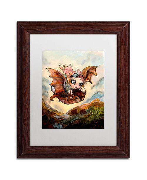 "Trademark Global Natasha Wescoat 'Dreaming Of Flying' Matted Framed Art - 11"" x 14"""