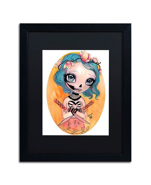 "Trademark Global Natasha Wescoat 'Katana Kisser' Matted Framed Art - 16"" x 20"""