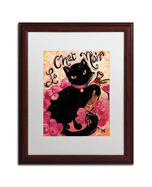 "Trademark Global Natasha Wescoat 'Le Chat Noir' Matted Framed Art - 16"" x 20"""