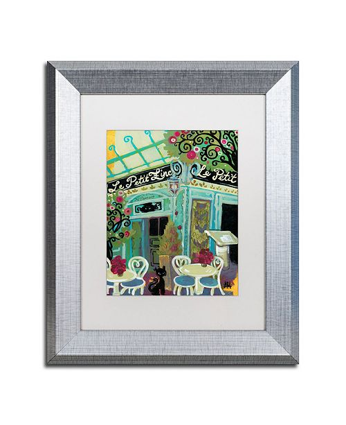"Trademark Global Natasha Wescoat 'Le Petit Zinc' Matted Framed Art - 11"" x 14"""