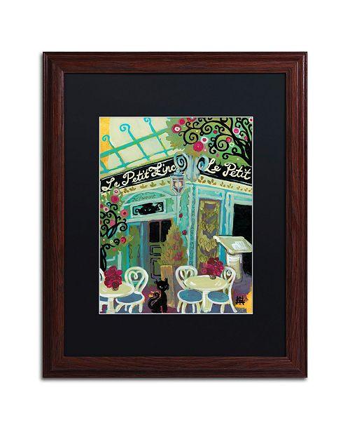 "Trademark Global Natasha Wescoat 'Le Petit Zinc' Matted Framed Art - 16"" x 20"""