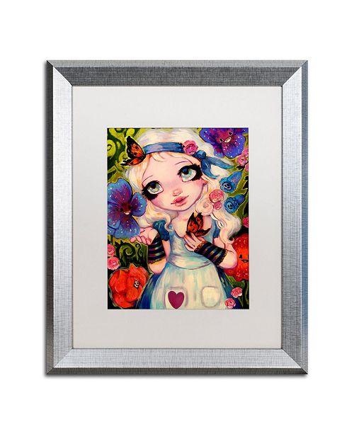 "Trademark Global Natasha Wescoat 'The Talking Flowers' Matted Framed Art - 16"" x 20"""