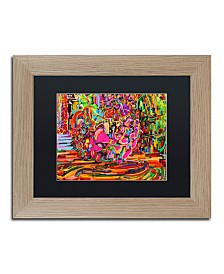"Josh Byer 'Nude Woman As A Bowl Of Fruit' Matted Framed Art - 11"" x 14"""